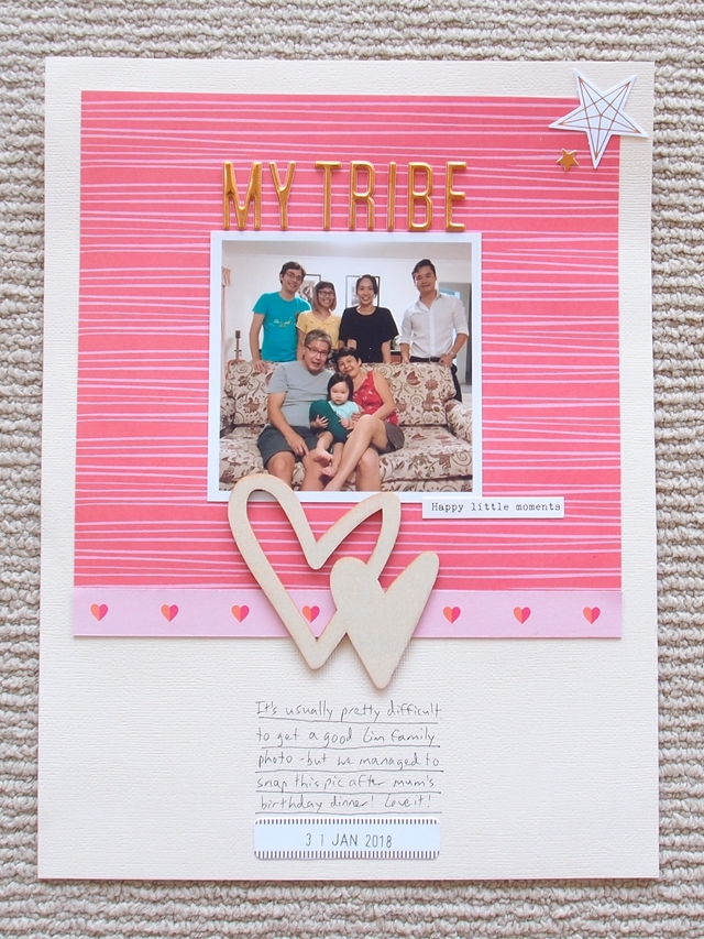 all the little happy things - scrapbook layout - my tribe